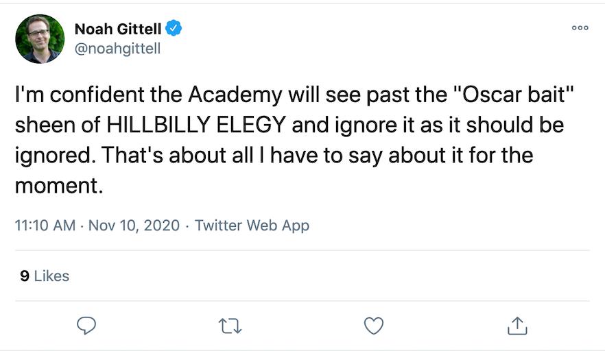 hillbilly elegy oscar bait