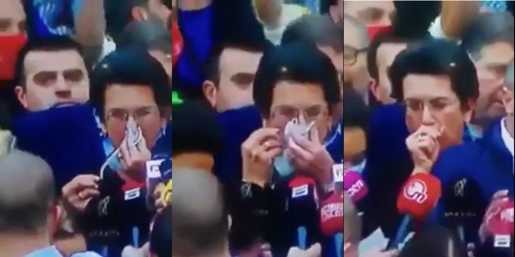 karen wipes nose with mask video