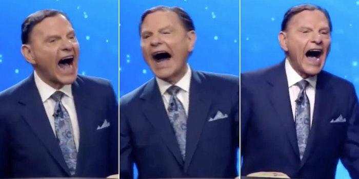 Kenneth Copeland laughing Biden video
