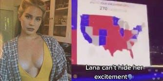 lana del rey live trump vote