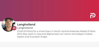 The Parler account of Police Chief Lang Holland
