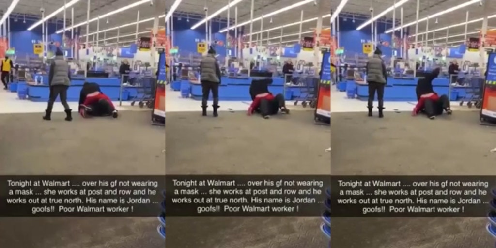 Man assaults Walmart employee face mask video
