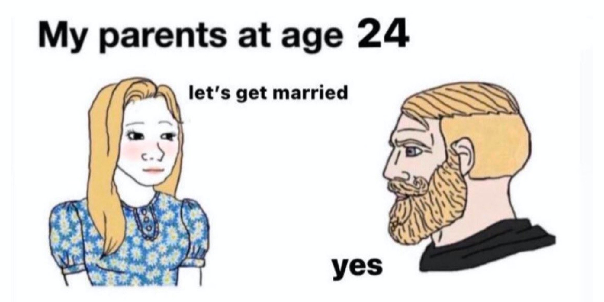 my parents at age