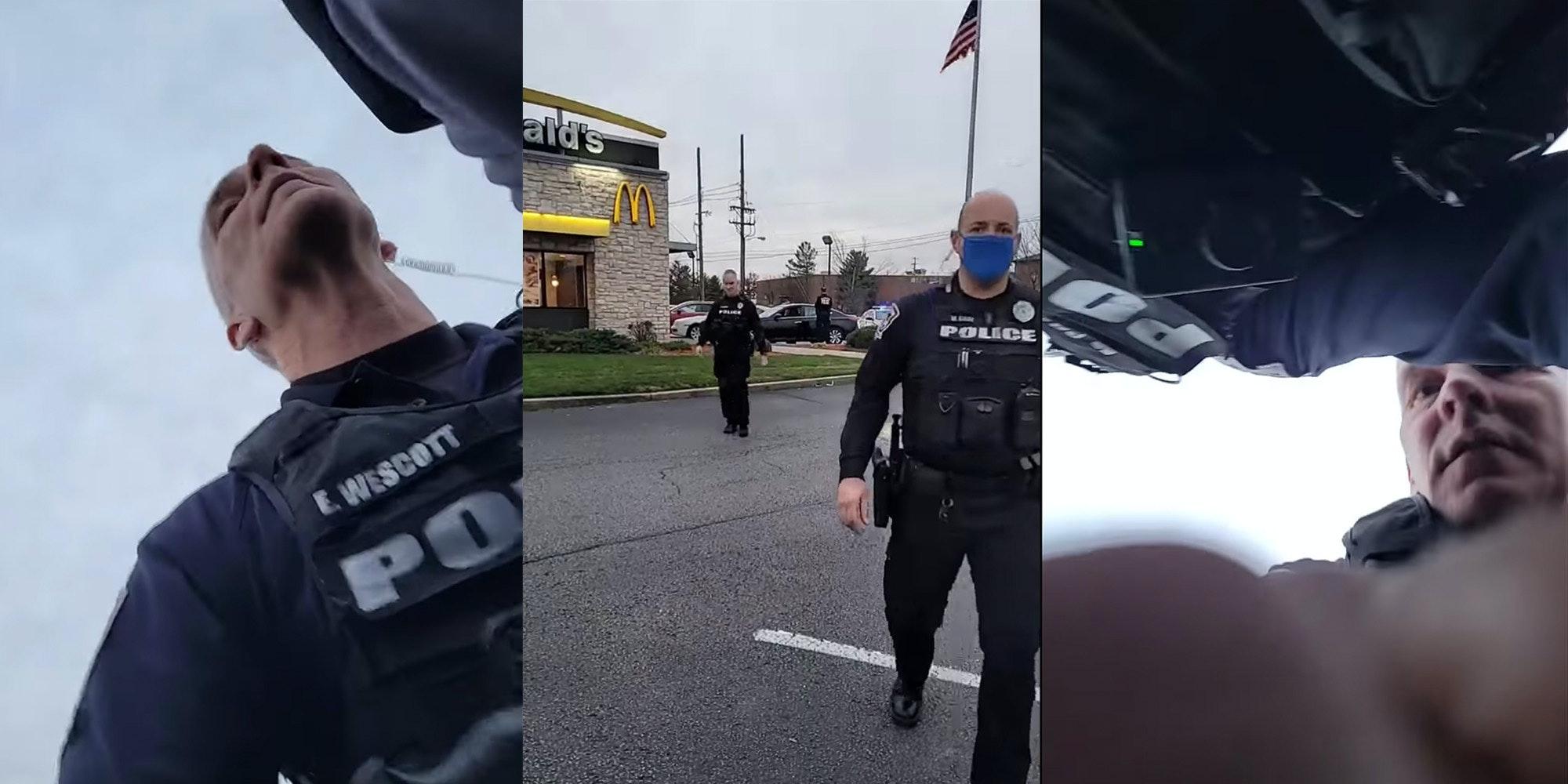 police officer strikes man live streaming arrest