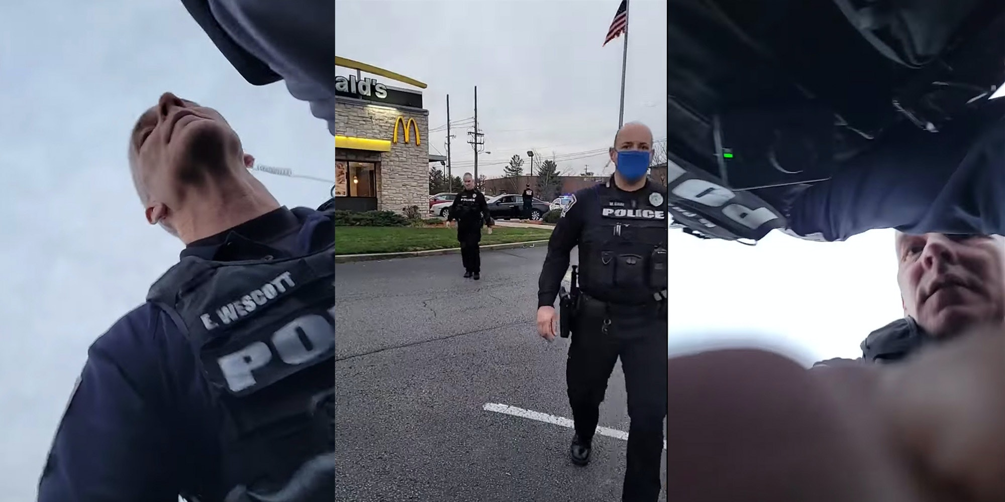 police officer strikes man live streaming arrest