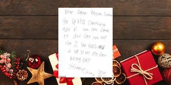 A letter written to Santa