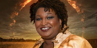 stacey abrams on supernatural tv show background
