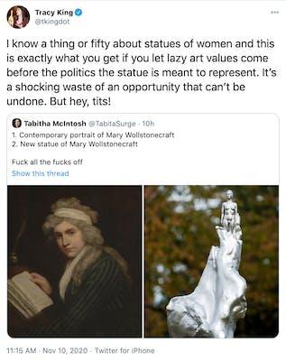 Mary Wollstonecraft statue backlash