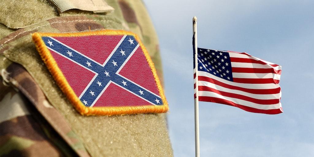 us flag confederate patch