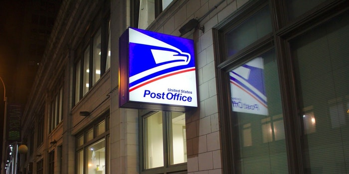 A USPS post office location