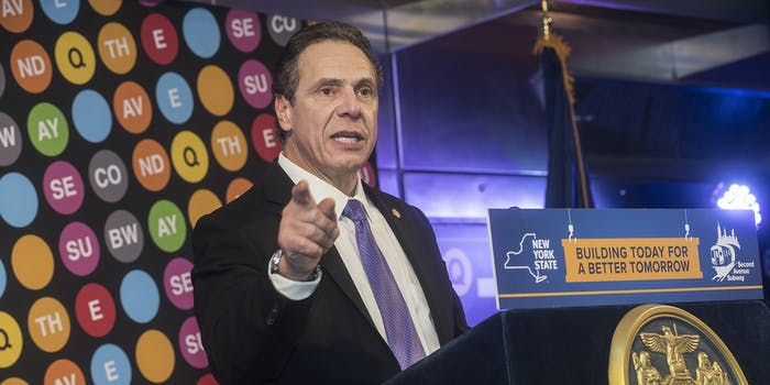 Gov. Andrew Cuomo. He signed a law that bars law enforcement from accessing information from contact tracing.