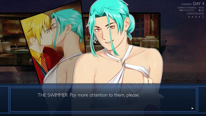 A lesbian sex scene between The Beast and The Swimmer in Ladykiller in a Bind, a popular adult Steam game.