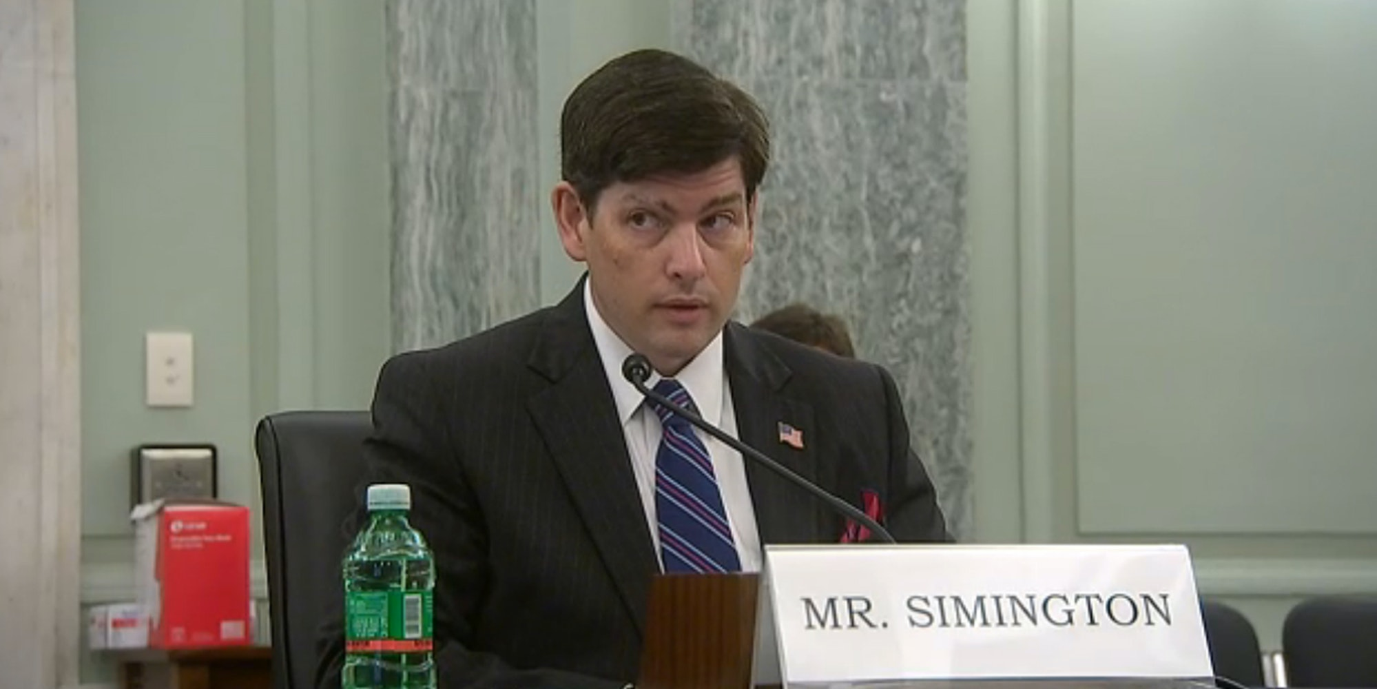 Nathan Simington was appointed to the FCC after the Senate voted to confirm his nomination. He was nominated by President Donald Trump.