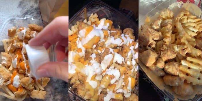 Nugget salad - TikTok