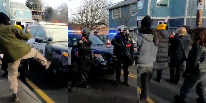 Portland protest - Red House
