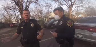 Officers seen harassing Terry Rucker before snatching his phone away