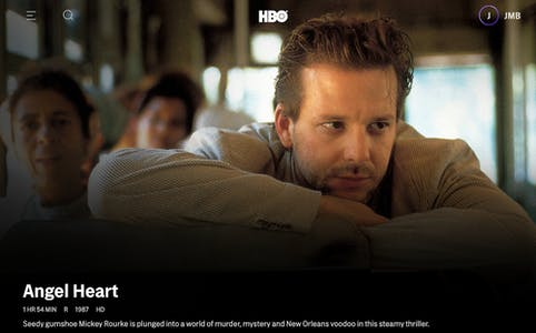 HBO Max angel heart listing