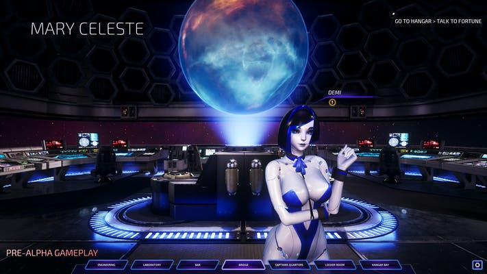 A screenshot from controversial adult Steam game Subverse.