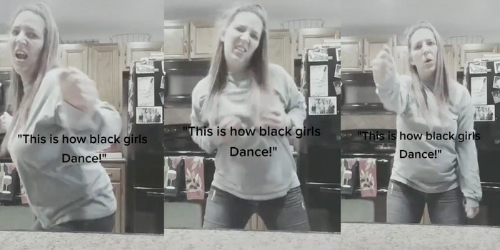 amy sanders racist tiktok video 'how black girls dance'