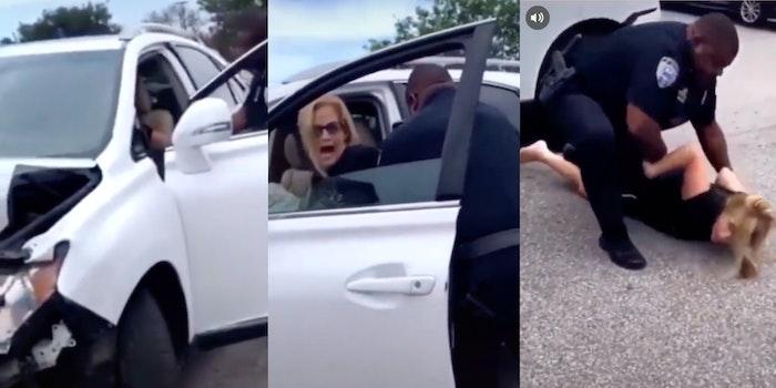 White woman resist arrest