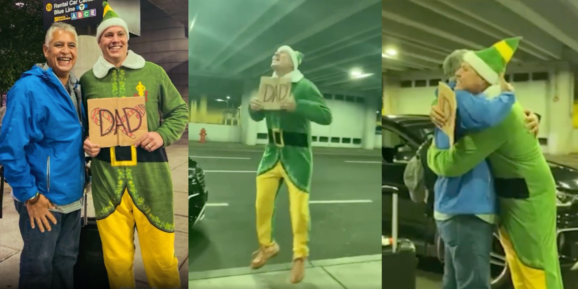 man meets dad as buddy the elf