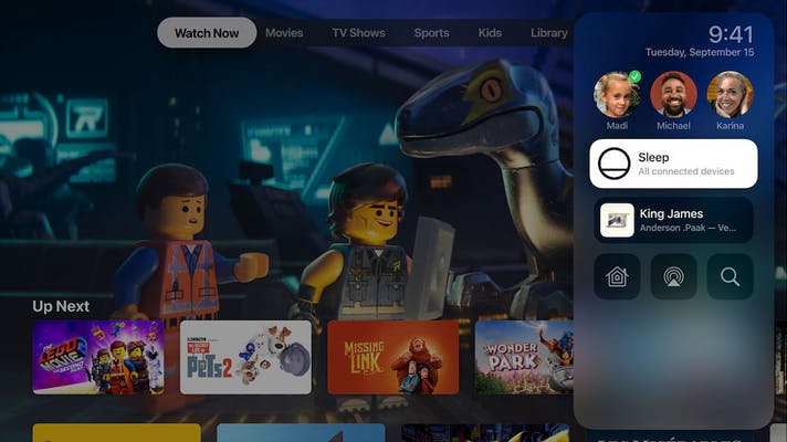 Apple TV shares content from iphone easily