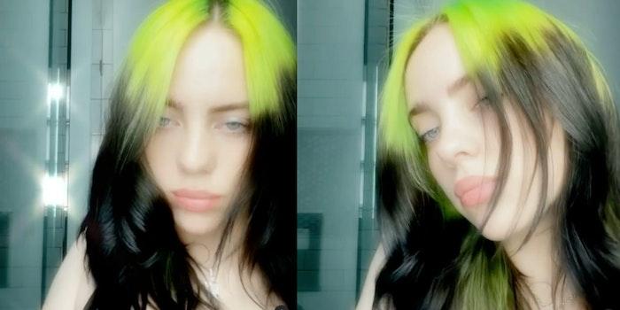 billie eilish boob art instagram