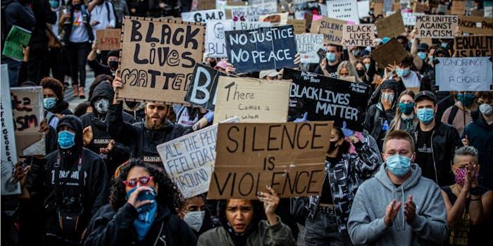 black lives matter police report terrorist group