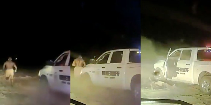 Cop runs over Black man with truck in video