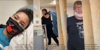 Hospital Karen can suddenly breathe when TikToker calls her a cunt