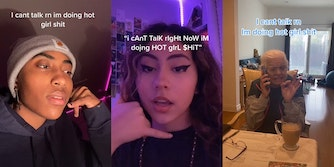 """women on phone saying """"i can't talk right now i'm doing hot girl shit"""""""