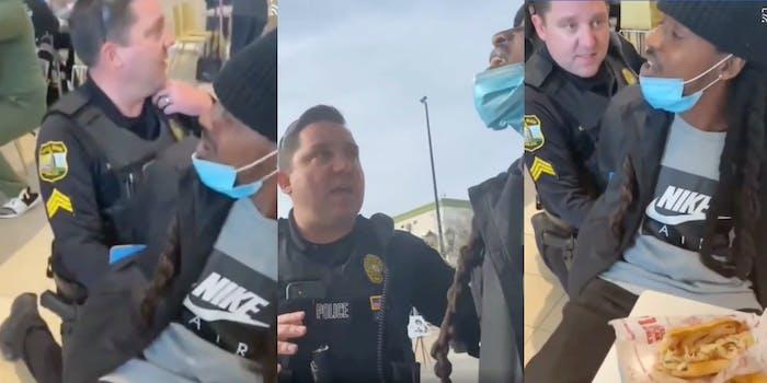 jamar mackey covid maskless cop video