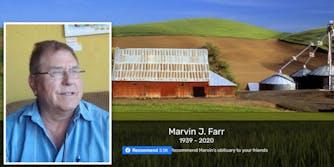 Marvin James Farr obituary covid death