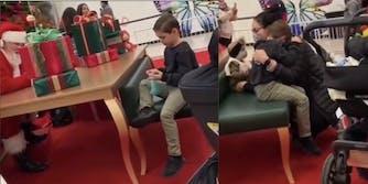 karen claus mall santa makes child cry by refusing to gift him a nerf gun
