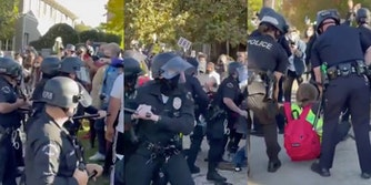 lapd-beating-protesters-outside-mayor-garcetti-house