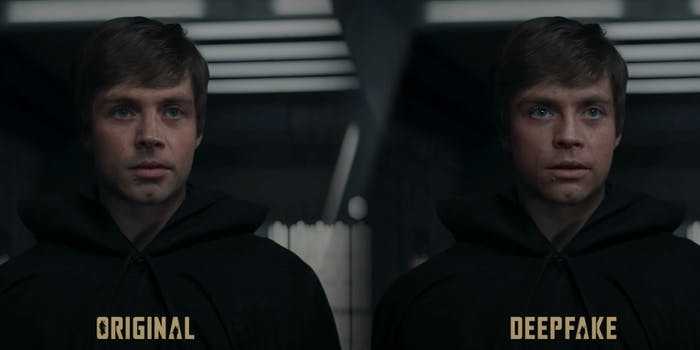 luke skywalker deepfake the mandalorian