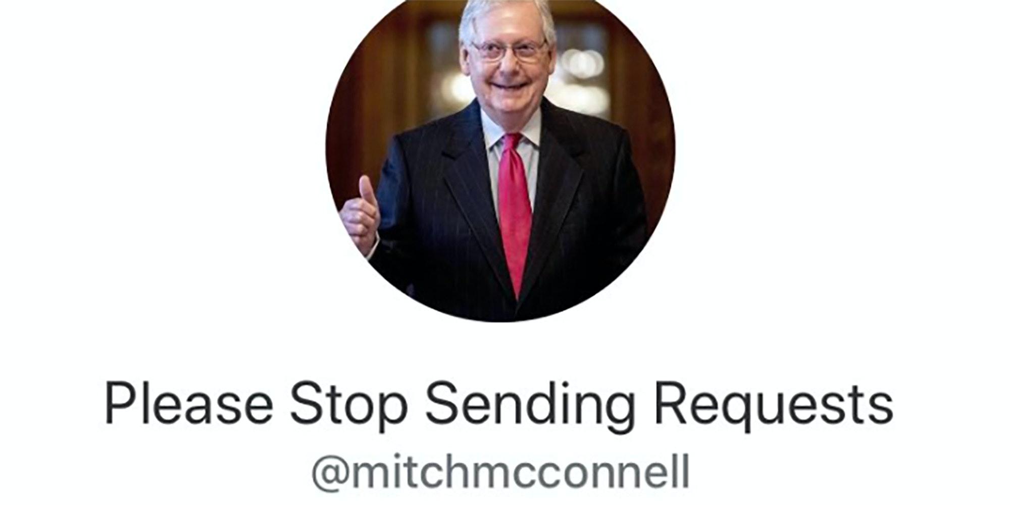 mitch mcconnell stimulus check request paypal venmo