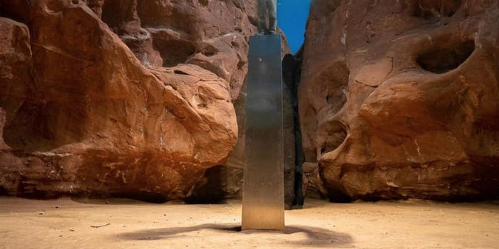 A monolith in the Utah desert