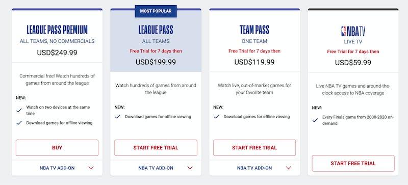 nba league pass 2021-22