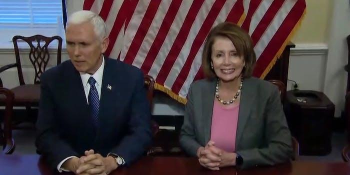 Mike Pence and Nancy Pelosi