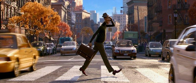 joe gardner walking in new york city soul