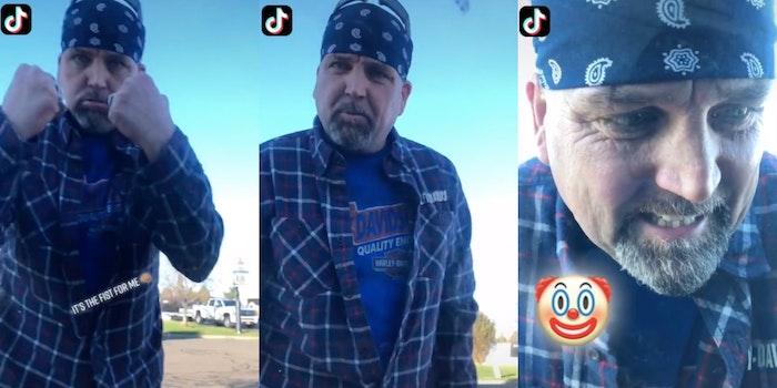 TikTok shows man punching car window