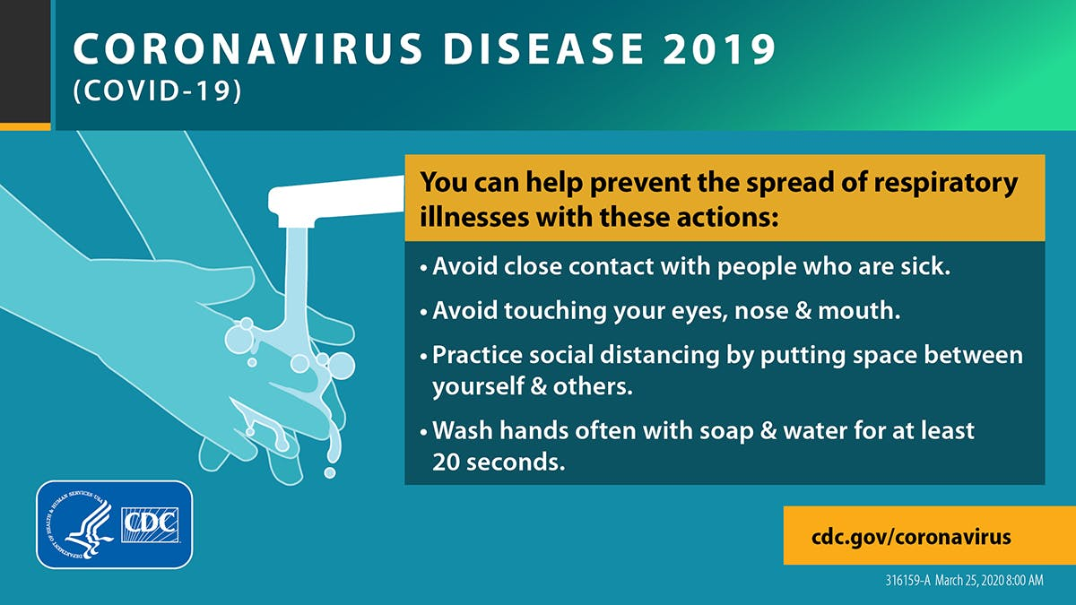 CDC guidelines for preventing COVID-19 include washing your hands, wearing a mask, staying home if you're sick, and social distancing.