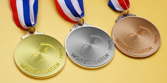 worst karen of 2020 awards in gold, silver, and bronze
