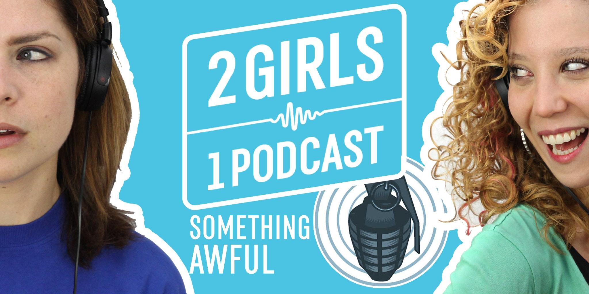 photo of 2 girls one podcast logo