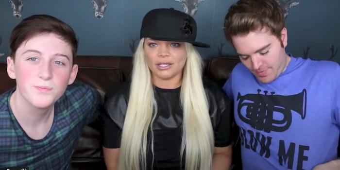Trisha Paytas and Shane Dawson with 16yo Trevi Moran discussing blowjobs