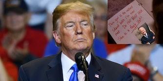 Donald Trump - note Biden