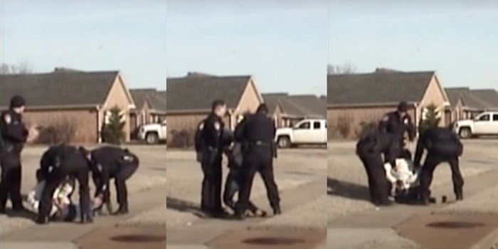 A video shows police officer Eric Parker slamming an Indian grandfather to the ground, partially paralyzing him.