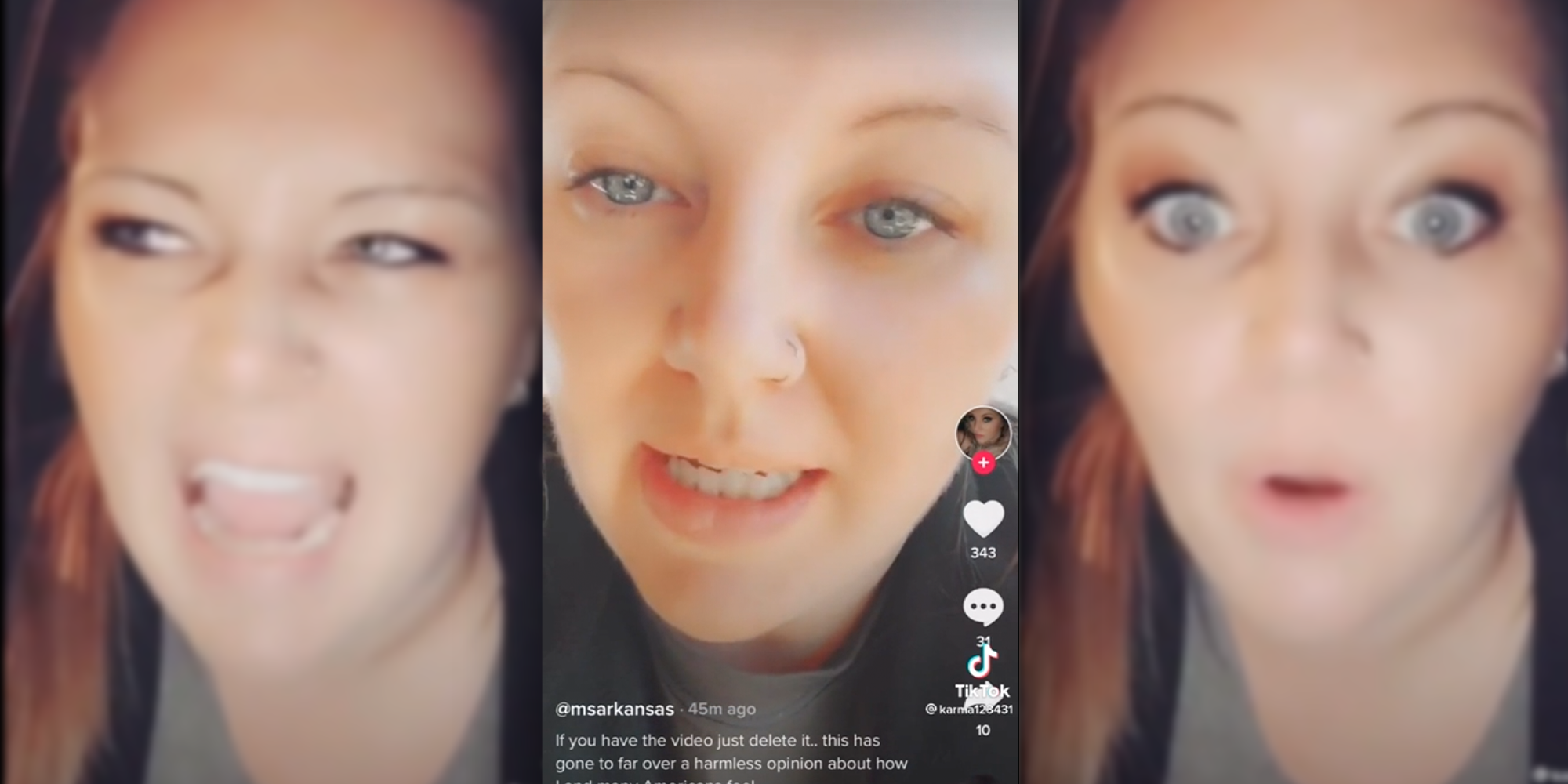 TikTok user says she was reported to law enforcement for threatening Mike Pence.