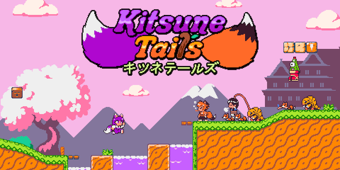 A logo for Kitsune Tails from Kitsune Games